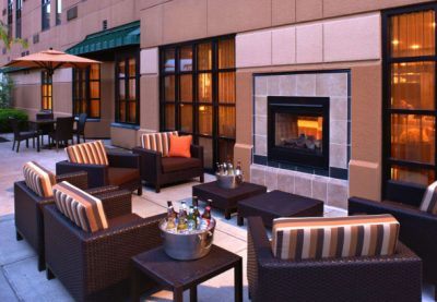 Courtyard social area  Courtyard Cincinnati Covington