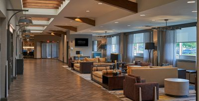 Hilton Inn Lobby after 2018 renovation