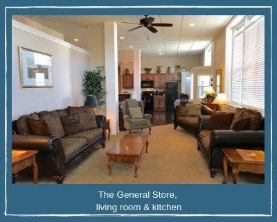 The General Store Living Room and Kitchen