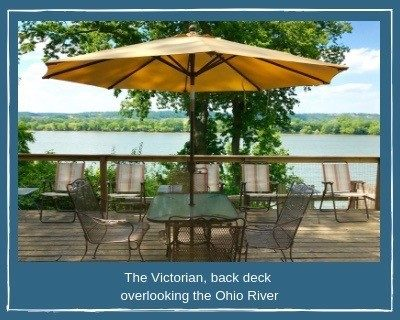 The Victorian - Back Deck Overlooking the Ohio River